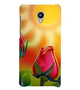 ANIMATED BLOOMING TULIP IN SUNLIGHT 3D Hard Polycarbonate Designer Back Case Cover for Meizu m3 note::Meizu Blue Charm Note3