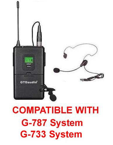 GTD Audio Body Pack Transmitter Compatible With G-787 , G-733 Receiver Series