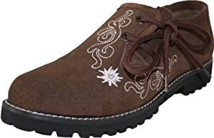 Bavarian Trachten Shoes Haferlschuhe in Dark Brown
