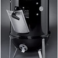 Weber 711001 Smokey Mountain Cooker 14-Inch Charcoal Smoker, Black from Weber