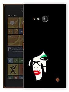 "Humor Gang Minimal Girl Art Printed Designer Mobile Back Cover For ""Nokia Lumia 730"" (3D, Matte, Premium Quality Snap On Case)"