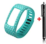 Smart Tech Store Teal Polka Dots Replacement Band With Clasp for Garmin Vivofit Only /No tracker/ Wireless Activity Bracelet Sport Wrist band Garmin Vivo fit Bracelet Sport Arm Band Armband