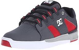 DC Men\'s Maddo Skate Shoe, Grey/Red/White, 10.5 M US