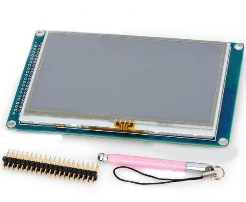 """4.5"""" Tft Touch Screen 480 X 272 Display Module W/ Stylus Pen For Arduino - Blue"""