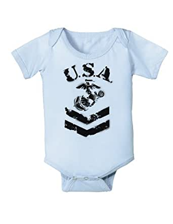 Amazon USA Military Marine Corps Stencil Logo Infant
