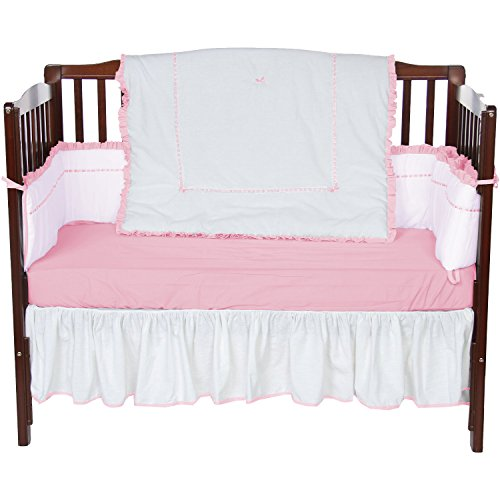 Baby Doll Unique Crib Bedding Set, Pink