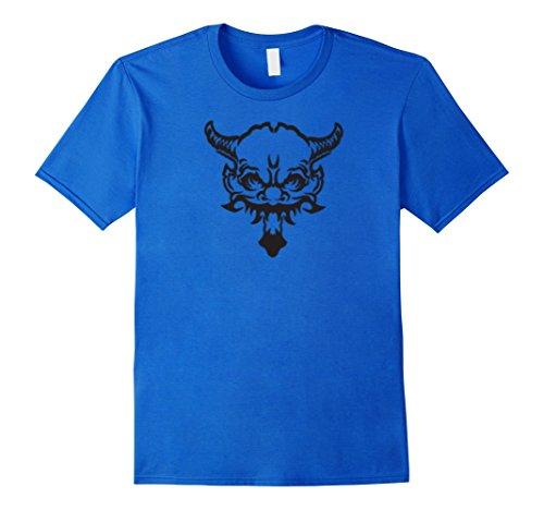 [Men's The Demon Lord Phantom Halloween Costume Tshirt Medium Royal Blue] (Epic Halloween Costumes For Men)