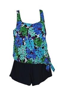 Penbrooke Tivoli Blouson Shortini Plus Size Shortini Swimsuit