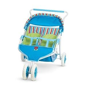 Amazon Com American Girl Bitty Twins Striped Stroller