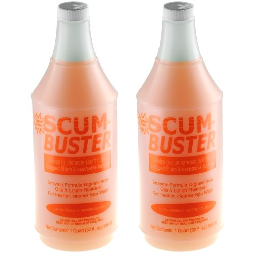2-pack-scum-buster-hot-tub-spa-water-scum-remover-clarifier-2-x-quart-bottles-64-oz-total