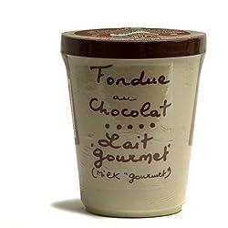 "Aux Anysetiers du Roy – ""Gourmet"" Milk Chocolate Fondue in Pottery Crock – 7oz"