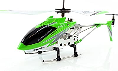 Genuine Syma S107 / S107G 3.5ch Mini RC Helicopter - Green (Original Syma S107G RC Helicopter)