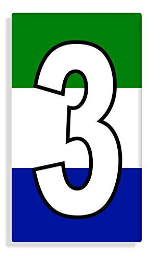 Sierra Leonean - Sierra Leone Flag Number 3 Sticker Self Adhesive / Aufkleber Für Wheelie Bin / Haustür / Mülltonne / Mülleimer - Anzahl wählen