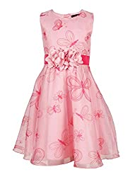 Chicabelle Girls' Dress (CH-25A_Pink_5-6 Years)