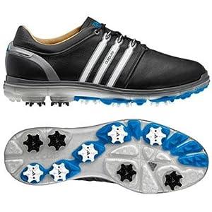 Adidas 2014 Men's Pure 360 WIDE Golf Shoe (Black/Running White/Samba Blue - 11.5)