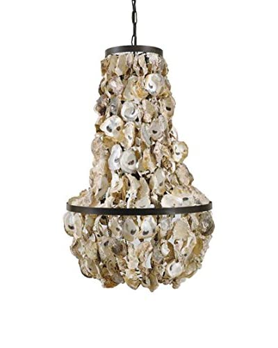 Oyster Shell Chandelier, Cream