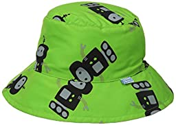 i play. Baby Bucket Sun Protection Hat, Lime Robots, 9-18 Months