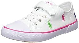 Polo Ralph Lauren Kids Kody Sneaker (Toddler/Little Kid), White/Multi, 6.5 M US Toddler