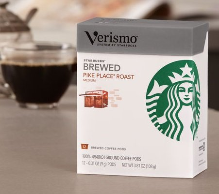 Starbucks Verismo Pike Place Roast Blend Coffee Pods, 12 Pods