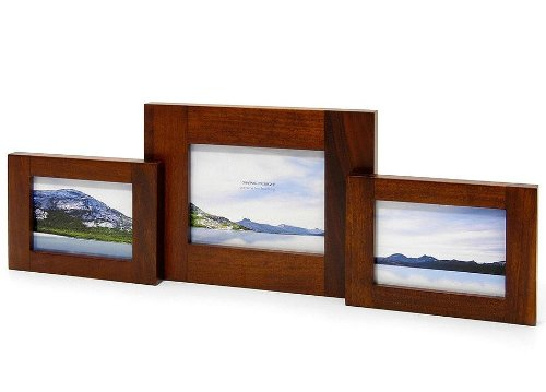 Swing Design Spectrum Walnut Pivot Double Picture Frame, 4 by 6-Inch