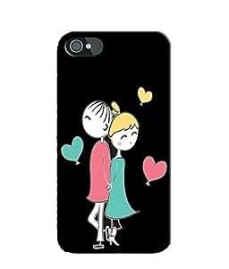 EU4IA CUTE CARTOON MATTE FINISH 3D MATTE FINISH Back Cover Case For iPhone 4s - D702