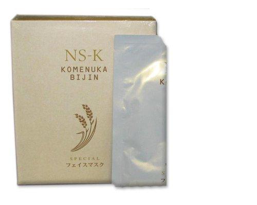 Komenuka Bijin Ns-K Deep Anti-Aging Facial Mask From Natural Rice Bran (4 Masks)