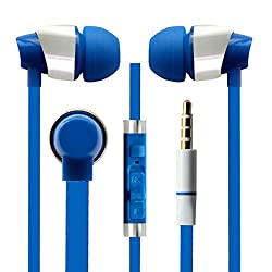 Hello Zone Sporty look and Comfort Fit Stereo Headset Handsfree Headphone Earphone with Mic 3.5 MM Jack for LE G FLEX 3 -Blue