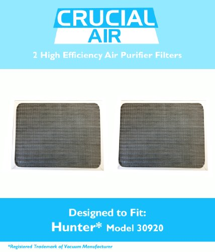 2 Hunter 30920 Air Purifier Filters, Fits Hunter Models: 30050, 30055, 30065, 37065, 30075, 30080 & 30177, Designed & Engineered by Crucial Air (30920 Hunter Replacement Filter compare prices)