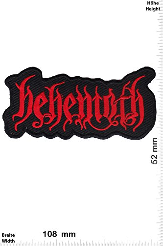 Patch - Behemoth - Death Metal - red - Musica - Behemoth- toppa - applicazione - Ricamato termo-adesivo - Give Away""