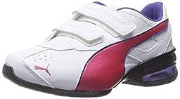 PUMA Tazon 6 SL Wide Kids Sneaker (Toddler/Little Kid/Big Kid) , White/Rose Red/Prism Violet, 11 M US Little Kid