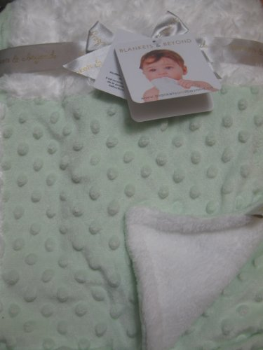 Soft Patchwork Green and White Soft Baby Blanket