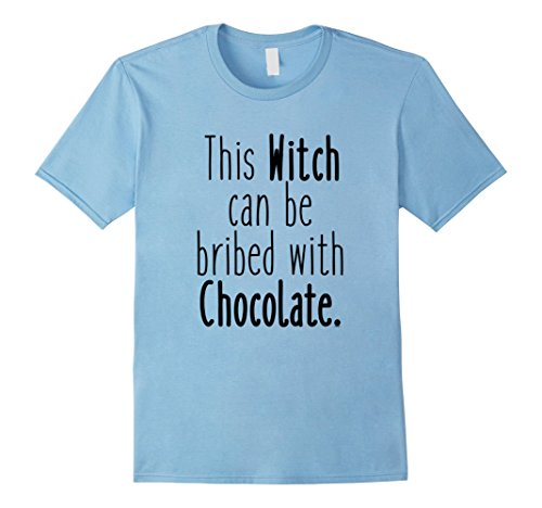 Men's Which Can Be Bribed With Chocolate - Funny Halloween T-shirt Medium Baby Blue (2016 Pumpkin Carving Ideas)
