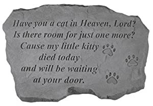KayBerry Garden Accent Pet Memorial Stone Have you a cat in Heaven 94820