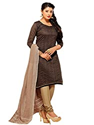 TEXCLUSIVE WOMEN'S CHANDERI STRAIGHT FIT UN-STITCHED DRESS MATERIAL