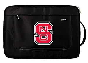 Buy NCAA North Carolina State Wolfpack Deluxe Nylon Laptop Sleeve for 15-Inch to 16-Inch Laptop or MacBook Pro by Tribeca Gear