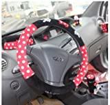 New Cartoon Minnie Mouse Red+black Car Dot Steering Wheel Holder,car Steering Wheel Cover ,Steering Wheel Case-38cm