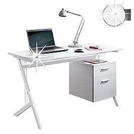 Variante ceppo scrivania CT-3365A Hochglanz Weiß