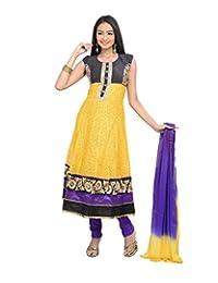 Sareeshut Women's Net Regular Fit Anarkali Suits - B00WQYXK9Q