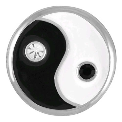 Ginger Snaps Studded Yin & Yang Snap Interchangeable Jewelry Snap Accessory