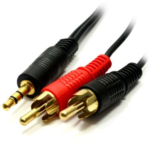 Jack stereo da 3,5mm a 2RCA Audio cavo per telefoni cellulari, Mixer, amplificatori, Tablet, Car Audio, MP3, cuffie, Pc, Laptop,... e più