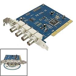 Gino CCTV Camera 4 Channel Digital Video Record DVR PCI Card
