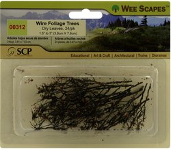 Wee Scapes Architectural Model Trees Wire Foliage Trees (dry leaves) 1 1/2 in. - 3 in. pack of 24