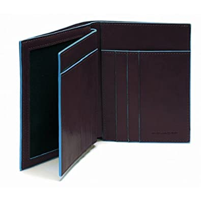 Piquadro portafoglio uomo verticale blue square mogano for Piquadro amazon