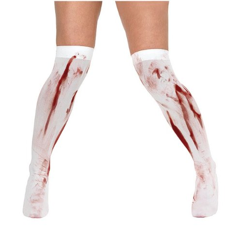 Blood Stained White Stockings Halloween Fancy Dress