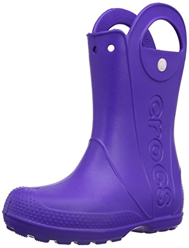 crocs  Handle It Rain Boot Kids,  Stivali di gomma bambina, Viola (Purple (Ultraviolet)), 30/31
