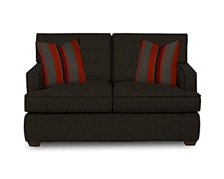 Klaussner Loomis Loveseat, 61 by 39 by 30-Inch, Charcoal