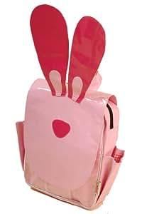 Minene Animal Themed Child Backpack Bag Rabbit (Pink)