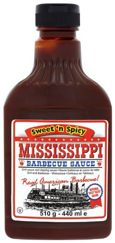 Mississippi BBQ BBQ Sauce, Sweet 'n Spicy, 18-Ounce (Pack of 6)