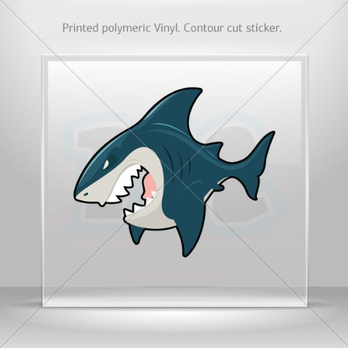 Decal Sticker Shark Attack Car Door Hobbies Waterproof Racing Durable Racing Motorbike 0500 W7W78 front-234461