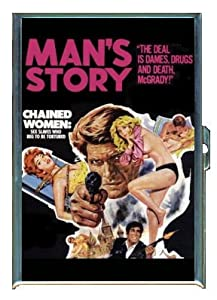 MAN'S STORY SEX SLAVES CHAINED PULP ID Holder, Cigarette Case or Wallet